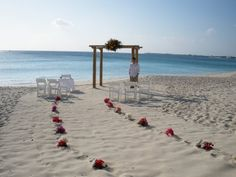 simple beach wedding idea love this bc well when ib get remarried i want very