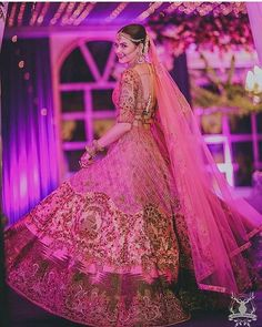 """This bride and her stunning outfit!😍 Pretty shot by @morviimages . .  #happyshappy #myhappyshappy #happybride #indianbride #bride#wedding #jewelleyinspiration #indianwedding#weddingphotography #weddinglehenga #weddinginspiration #twirl #photos #photooftheday #photography #photographer #photo #photoshoot #weddinggoals #goals❤️ #lovel #lehenga #indianbride#twirl #pink #beautiful #purple #sangeet#gorgeous #morviimages #morviimagesbride"" by @happyshappy. #eventplanner #weddingdesign #невеста…"