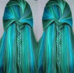 Mermaid hair! just need pearls and shells in it!