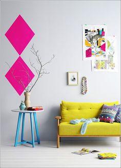 Los colores neón son una verdadera opción en la decoración...