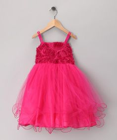 Take a look at this Fuchsia Floral Tulle Dress - Toddler & Girls by Shanil on #zulily today!