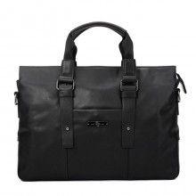 black mens bags-12 inch black/brown fashion leather mens briefcase laptop bag