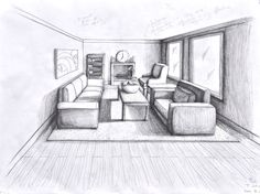 1 point perspective room 05