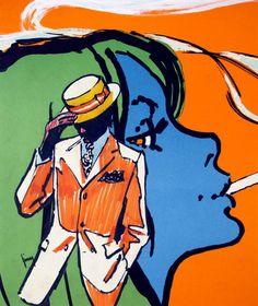 Gerd Grimm for Baden tobacco 1970 (Museum für Kunst und Gewerbe Hamburg)