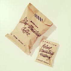 washi tape coffee packaging