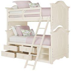 Victoria White Storage Bunk Bed