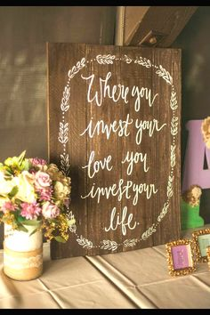 Wooden wedding sign @weddingchicks | weddings | Pinterest ...
