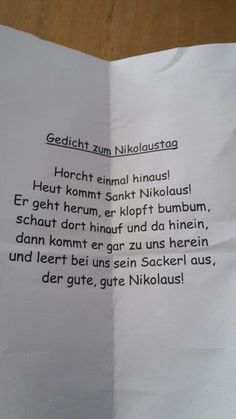 Nikolausgedicht - #schuleunterricht