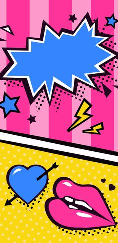 Phone Backgrounds, Iphone Wallpaper, Pop Art Images, Pretty And Cute, Homescreen, Collages, Android, Girly, Lips