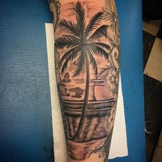 225 Palm Tree Tattoo Designs That Remind You Of The Beach - Prochronism