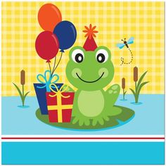 Frog Party Lunch Napkins (18)