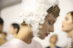Backstage at Dior Spring Couture 2013