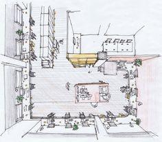 Photography Studio Sketch. Schemata Architecture Office.