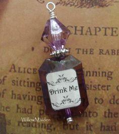 Drink Me Vintage Style Vial Pendant