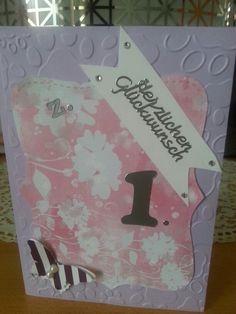 Mädchen Karte zum 1. Geburtstag