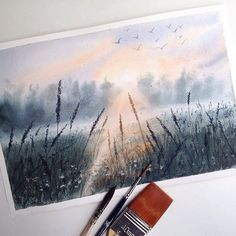 Watercolorist: @tatka_o  #waterblog #акварель #aquarelle #painting #drawing…