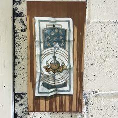 Alchemical illustration... Oil paint on wood  Recartworks.com For sale $320