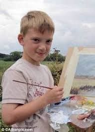 Nine Year Old Artist Sells All His Paintings in Just 15 Minutes It is time for the world to meet young Kieron Williamson from Norfolk, England. This amazing 9 year old artist started painting back in. Artist Art, Artist At Work, Child Artist, Monet, Sloth Deadly Sin, Dinosaur Drawing, Jojo Parts, Artists For Kids, English Artists