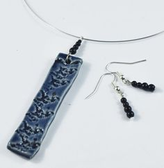 This is a great pendant ~ Blue Handmade Ceramic Jewelry Necklace and by DeeDeeDeesigns, $27.00