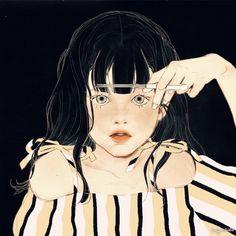 Kawaii Illustration, Character Illustration, Aesthetic Art, Aesthetic Anime, Korean Art, Creative Pictures, Digital Art Girl, Gifs, Anime Scenery