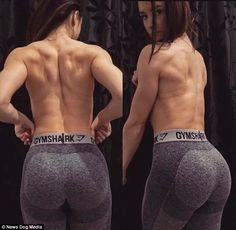 Most women will admit they work out to lose weight but Bethany Tomlinson, 22, from Somerset had a different objective - to gain bulk and transform her slender frame into pure muscle.