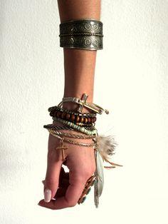 stacked bracelets just like I wear them!