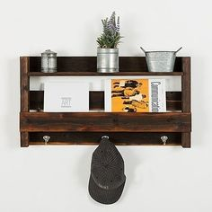 This entry shelf is made 100% out of reclaimed wood. We use old fence, and barn wood to create this original design.Measures 16hx30wx5dEvery piece we create is its own creation. We do our best to match our photos but wood does what it wants. This is the nature of creating home decor out of old lumber. We will do what we can to get you what you want, but a open mind is a must. Colors, textures, and character makes will always be different from piece to piece. Thanks for understanding...