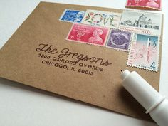 Silhouette America Blog | Envelope Addressing | Silhouette Sketch Pen & Holder