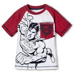 Superman Infant Toddler Boys' Short Sleeve Raglan Tee