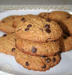 Biscotti d'avena integrali all'olio...... un dolcetto leggero per compensare l'amarezza