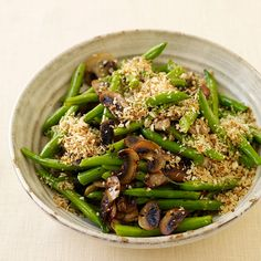 Weight Watchers Green Beans with Mushrooms and Crisp Onion Crumbs: 3 Points+