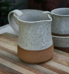 rustic pint pitcher stoneware jug milk jug by earthformsbymarie