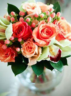 Peach & Coral bouquet
