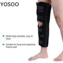 f7dd89ae96 Knee Brace Support Pad Patella Knee Fixing Orthopedic Leg Posture Corrector Fractures  Splint Guard Knee Support