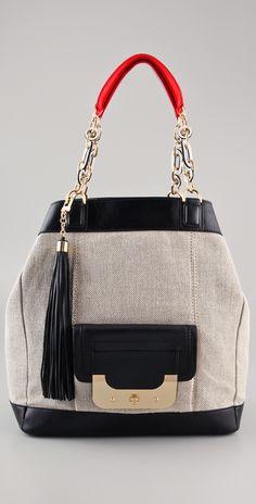 Diane von Furstenberg Harper Anna Burlap Bag | SHOPBOP