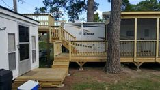 Camper at coast of nc by leisure time decking greensboro nc