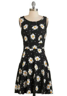 Such Precious Petals Dress - Multi, Floral, Casual, Sundress, Vintage Inspired, 90s, A-line, Sleeveless, Woven, Good, Scoop, Exposed zipper,...
