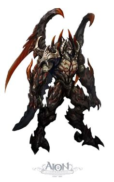 A concept art archive of NCSoft's fantasy MMORPG, Aion Online. Fantasy Character Design, Character Concept, Character Art, Concept Art, Dark Warrior, Fantasy Warrior, Fantasy Monster, Monster Art, High Fantasy