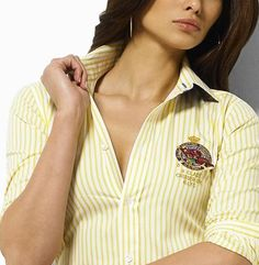 Camisa de manga larga de Ralph Lauren Mujer Rayas amarillas €45.99 http://www.polostyleropa.com/camisa-de-manga-larga-de-ralph-lauren-mujer-rayas-amarillas-p-1665.html