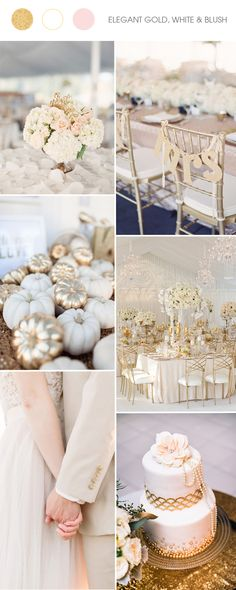 trending gold and white wedding color ideas