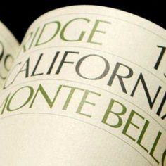 Ridge Vineyards has opted for ingredient labeling to encourage greater transparency in winemaking.