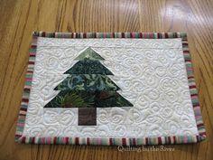 Christmas Mug Rugs - easy to sew