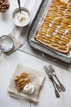 Yellow plum tart with hazelnut frangipane by @Claudia Gödke for #sistermag9 #French #classics