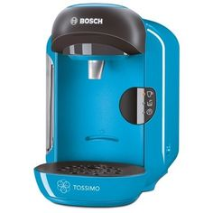 Bosch TAS1255GB Tassimo Vivy II Compact Coffee Machine 1300 watts Removable 0.7 litre water tank Intellibrew™ System - Patented bar code technology identifies drink selected and adjusts amount of water brewing time and temperature Large variety of high quality hot beverages Perfectly dosed capsule - each T disc contains high quality sealed ingredients - Blue/Anthracite