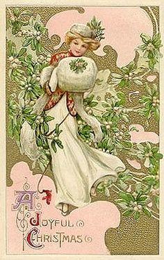 A Joyful Christmas ~ Vintage Victorian postcard