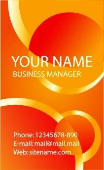 Download desain Kartu Nama, business card template, corel ...