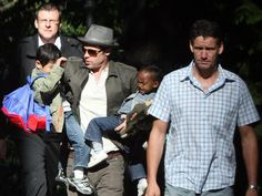 Mark Billingham said the Hollywood stars were very worried about who goes near their children. Picture: Splash News