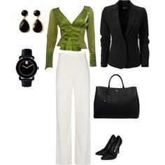 Simplistic office-ware, created by kelsey-blomquist on Polyvore