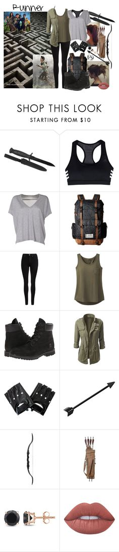 """Runner (TMR)"" by panenguin ❤ liked on Polyvore featuring adidas, Acne Studios, Kavu, Dr. Denim, prAna, Timberland, Auriya, Lime Crime, Runner and themazerunner"