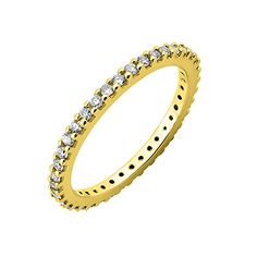14k Yellow Gold Diamond Eternity Band Ring 045 Carat * More info could be found at the image url.(This is an Amazon affiliate link and I receive a commission for the sales)